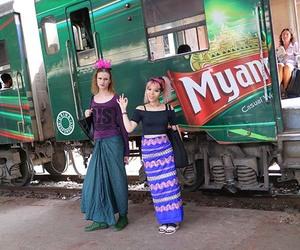 myanmar circular railway, circular rail yangon, and yangon train image