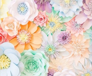 flowers, wallpaper, and pastel image