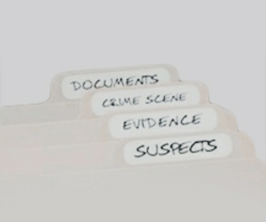aesthetic, crime scene, and files image