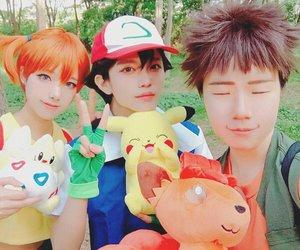 ash, Brock, and cosplay image