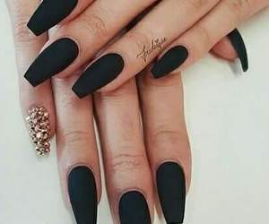 nails, black, and style image
