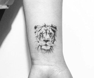 beautiful, lion, and tatto image