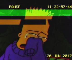 bart, sad, and simpsons image