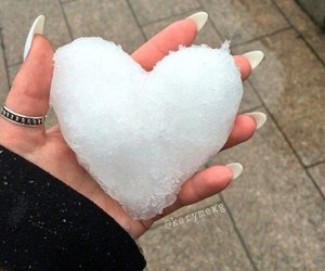 heart, ice, and winter image