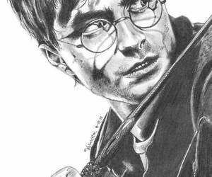 harry potter, draw, and drawings image