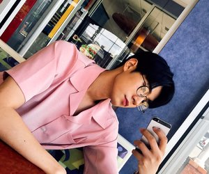 asian boy, pink, and cute image