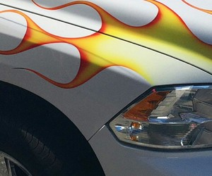 car, fire, and flame image