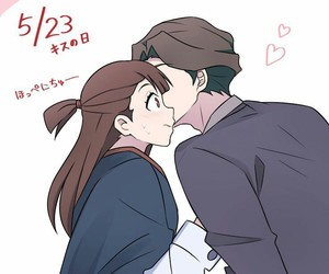 anime, couple, and little witch academia image