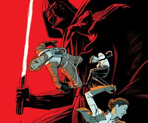darth vader, han solo, and luke skywalker image