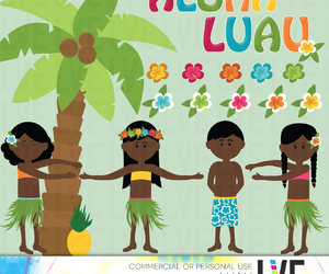 etsy, coconut tree, and luau party image