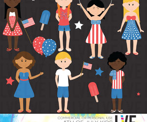 etsy, red white and blue, and fourth of july image