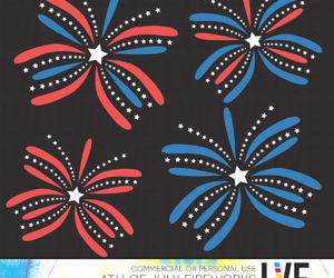 red white blue, etsy, and fourth of july image