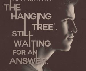 the hunger games, katniss, and the hanging tree image