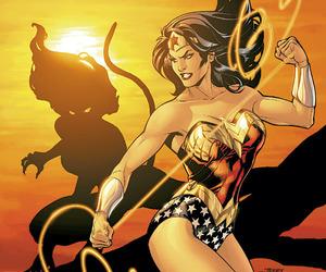 cheetah, wonder woman, and dc comics image