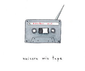 drawing, mix, and mix tape image