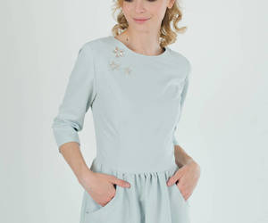 etsy, women clothing, and peach dress image