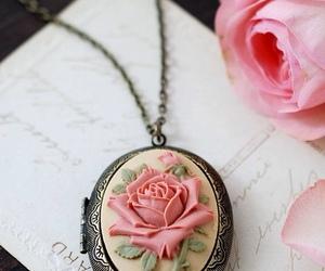 pink, rose, and vintage image