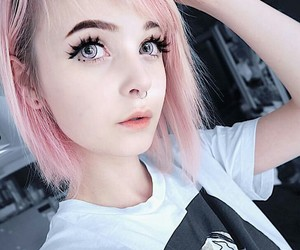 color hair, eyes, and gore image