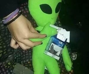 alien, grunge, and smoke image