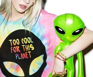 alien, ETs, and girl image