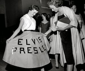 Elvis Presley, vintage, and black and white image
