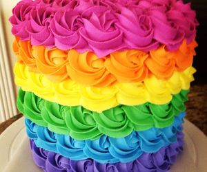 cake, rainbow cake, and beautiful cake image