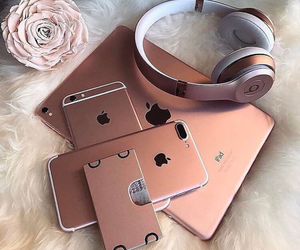 beats, Collage, and rosegold image