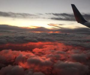 airplane, amazing, and nature image