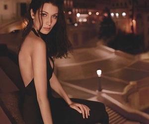 bella hadid, model, and black image