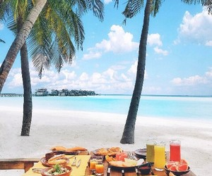 beach, breakfast, and paradise image