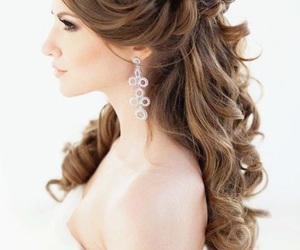 hairstyle, wedding, and hair image