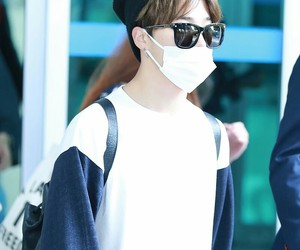 airport, mask, and airport fashion image