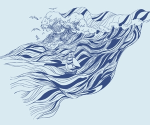 illustration, oceans, and patterns image