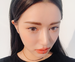 asian, lips, and piercing image