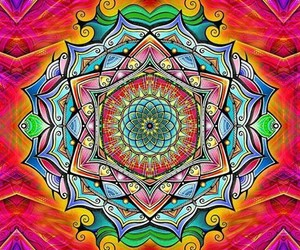 mandala, colors, and colorful image
