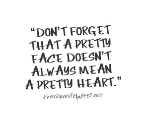 quote, forget, and heart image