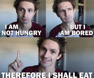 funny, bored, and food image