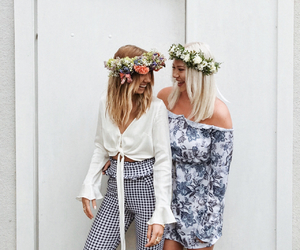 best friend, fashion, and friendship image