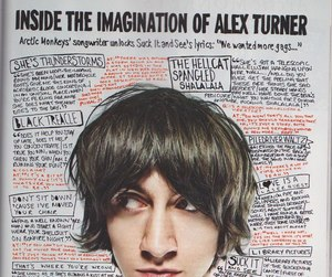 alex turner, arctic monkeys, and music image