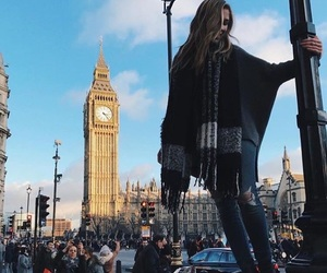 london, travel, and girl image