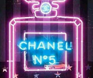 chanel, neon, and light image