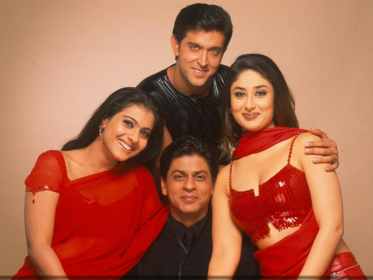 kajol, kareena kapoor, and hrithik roshan image