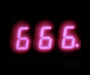 pink, 666, and neon image