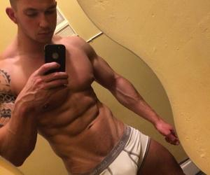 abs, guy, and muscles image