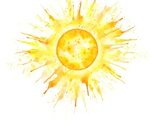 sun, yellow, and art image