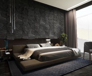 bedroom, black, and Dream image
