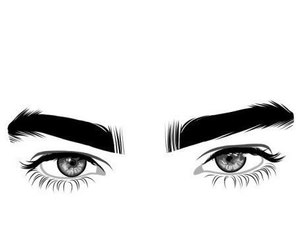 background, black&white, and eyebrows image