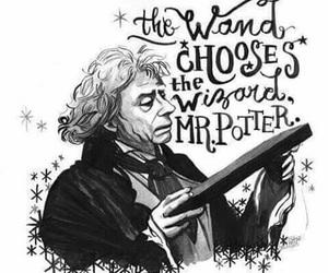 harry potter, wand, and hogwarts image