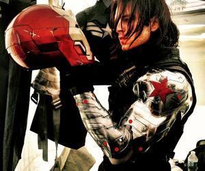 sebastian stan, winter soldier, and Marvel image