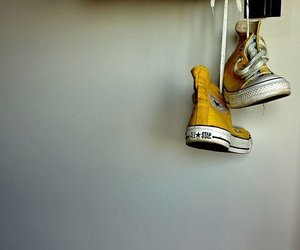 yellow, converse, and tumblr image